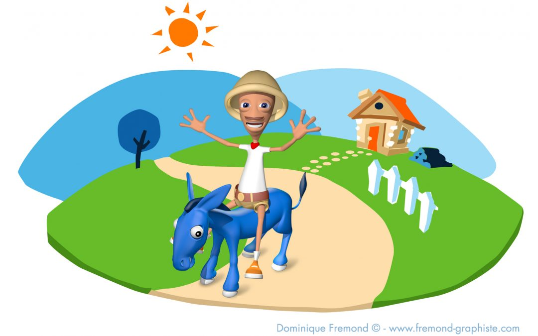 Décor pour «Sam» et son petit âne bleu