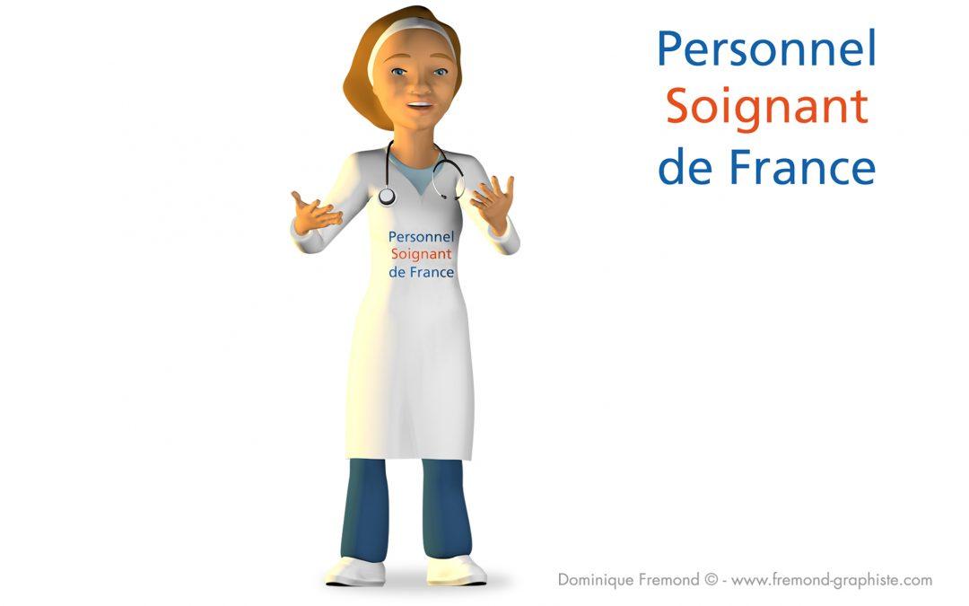 """""""Vita"""" mascotte 3D animée pour les CHU et le Personnel Soignant de France"""